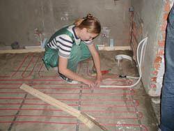 Монтаж электрического теплого пола в Ишимбае. электрический теплый пол